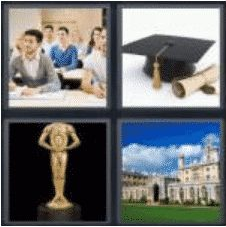 4 PICS 1 WORD ANSWERS 7 LETTERS academy