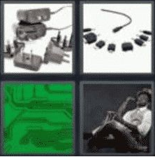 4 PICS 1 WORD ANSWERS 7 LETTERS adapter