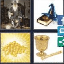 4 PICS 1 WORD ANSWERS 7 LETTERS alchemy