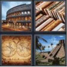 4 PICS 1 WORD ANSWERS 7 LETTERS ancient