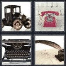 4 PICS 1 WORD ANSWERS 7 LETTERS antique