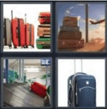 4 PICS 1 WORD ANSWERS 7 LETTERS baggage