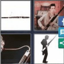 4 PICS 1 WORD ANSWERS 7 LETTERS bassoon