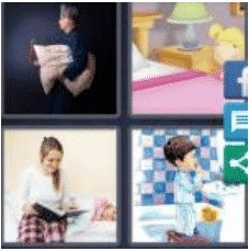 4 PICS 1 WORD ANSWERS 7 LETTERS bedtime