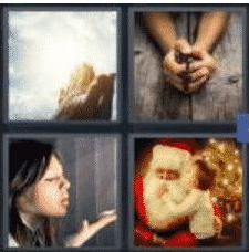 4 PICS 1 WORD ANSWERS 7 LETTERS believe