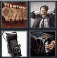 4 PICS 1 WORD ANSWERS 7 LETTERS bellows