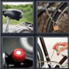 4 PICS 1 WORD ANSWERS 7 LETTERS bicycle