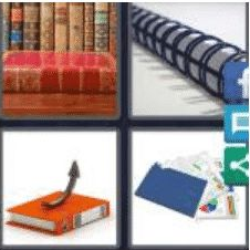 4 PICS 1 WORD ANSWERS 7 LETTERS binding