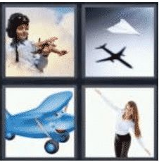 4 PICS 1 WORD ANSWERS 8 LETTERS airplane