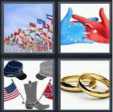 4 PICS 1 WORD ANSWERS 8 LETTERS alliance