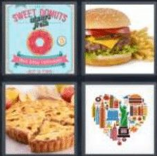 4 PICS 1 WORD ANSWERS 8 LETTERS american