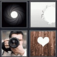4 PICS 1 WORD ANSWERS 8 LETTERS aperture