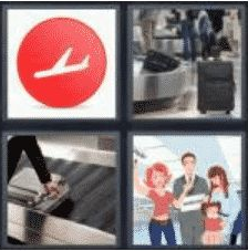 4 PICS 1 WORD ANSWERS 8 LETTERS arrivals