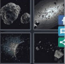 4 PICS 1 WORD ANSWERS 8 LETTERS asteroid