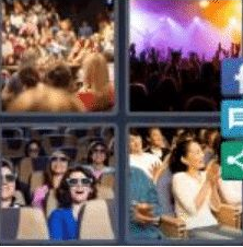 4 PICS 1 WORD ANSWERS 8 LETTERS audience
