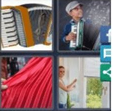 4 PICS 1 WORD ANSWERS 9 LETTERS accordion