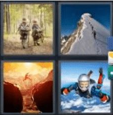 4 PICS 1 WORD ANSWERS 9 LETTERS adventure