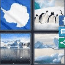 4 PICS 1 WORD ANSWERS 9 LETTERS antarctic