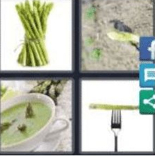4 PICS 1 WORD ANSWERS 9 LETTERS asparagus