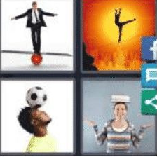 4 PICS 1 WORD ANSWERS 9 LETTERS balancing