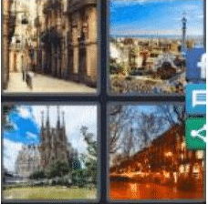 4 PICS 1 WORD ANSWERS 9 LETTERS barcelona