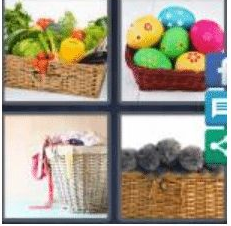 4 PICS 1 WORD ANSWERS 9 LETTERS basketfull