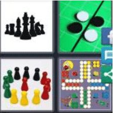 4 PICS 1 WORD ANSWERS 9 LETTERS boardgame