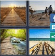 4 PICS 1 WORD ANSWERS 9 LETTERS boardwalk