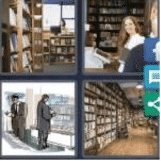 4 PICS 1 WORD ANSWERS 9 LETTERS bookstore
