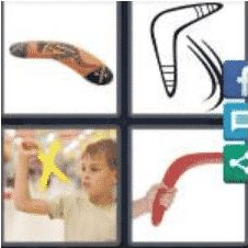 4 PICS 1 WORD ANSWERS 9 LETTERS boomerang