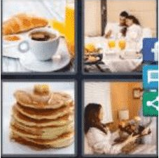 4 PICS 1 WORD ANSWERS 9 LETTERS breakfast