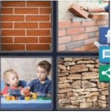 4 PICS 1 WORD ANSWERS 9 LETTERS brickwork