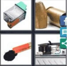 4 PICS 1 WORD ANSWERS 9 LETTERS cartridge