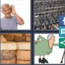 4 Pics 1 Word 4 Letter Answer aged