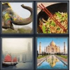 4 Pics 1 Word 4 Letter Answer asia