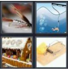 4 Pics 1 Word 4 Letter Answer bait