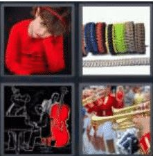 4 Pics 1 Word 4 Letter Answer band