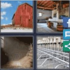 4 Pics 1 Word 4 Letter Answer barn