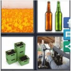 4 Pics 1 Word 4 Letter Answer beer