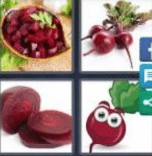 4 Pics 1 Word 4 Letter Answer beet