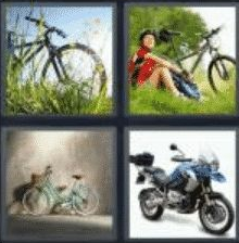4 Pics 1 Word 4 Letter Answer bike