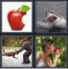 4 Pics 1 Word 4 Letter Answer bite
