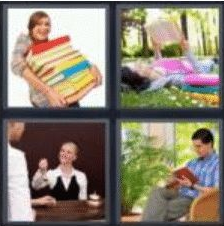 4 Pics 1 Word 4 Letter Answer book