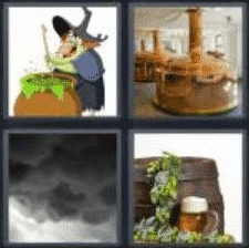 4 Pics 1 Word 4 Letter Answer brew