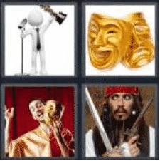 4 Pics 1 Word 5 Letter Answer actor