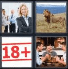 4 Pics 1 Word 5 Letter Answer adult