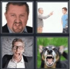 4 Pics 1 Word 5 Letter Answer anger