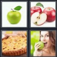 4 Pics 1 Word 5 Letter Answer apple