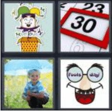 4 Pics 1 Word 5 Letter Answer april