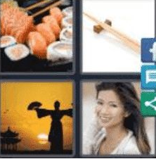 4 Pics 1 Word 5 Letter Answer asian